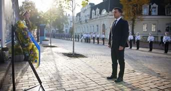 Президент Зеленський вшанував пам'ять загиблих за Україну