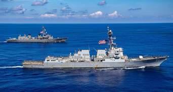 """Росія звинуватила есмінець США у порушенні морських кордонів: показали відео """"погоні"""""""