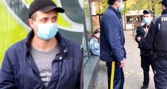 Во Львове пьяный мужчина приставал к детям: видео с места происшествия