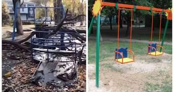 Каталась на качели: в Кривом Роге на 4-летнюю девочку упало дерево