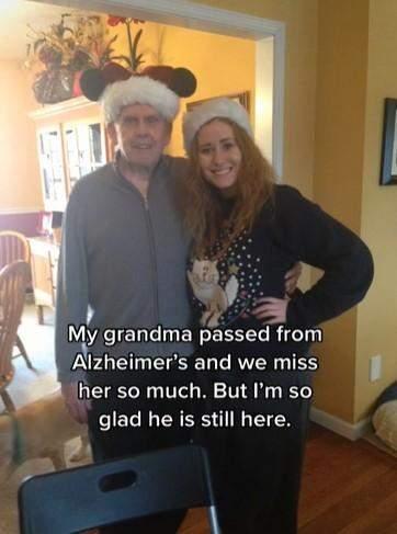 Дедушка очень заботится о Меган / Скриншот тикток meganelizabeth1016