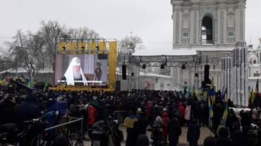 В Софии Киевской начался Объединительный собор УПЦ: первые фото