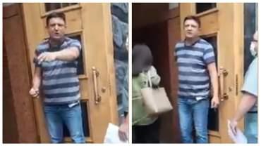 """""""Захоплення будівлі"""": чоловік з гранатою зайшов у Кабмін – відео"""