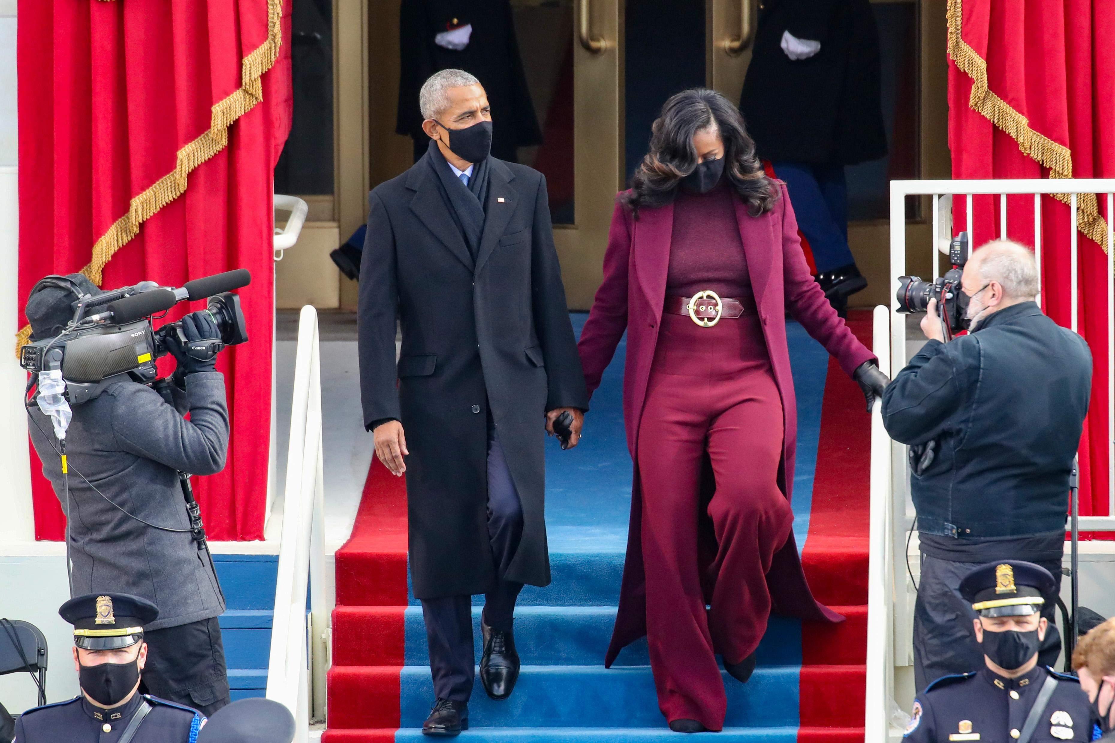 Мішель Обама і Барак Обама на інавгурації Байдена