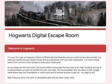 Цифрова квест-кімната Хогвартса