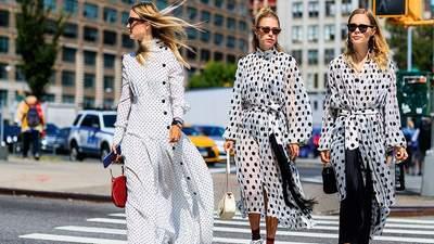 Платья в горох: 10 стильных идей, как носить самый модный принт лета