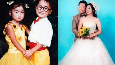 """Фотограф сделал """"свадебные"""" фото детей для рекламы, а через 19 лет эта пара поженилась"""