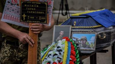 У Києві та Львові попрощалися з загиблим на Донбасі Тарасом Матвіївим: фото