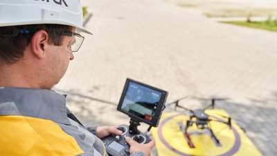 Дрони для запобігання аварії: ДТЕК представив інноваційну технологію