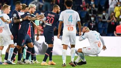 """Матч ПСЖ та """"Марселя"""" закінчився масовою бійкою: Неймар та ще 4 футболісти були вилучені – відео"""