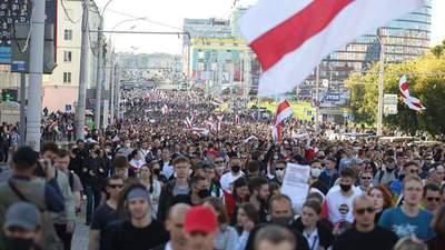 Марш справедливості та військова техніка: головне про протести у Білорусі 20 вересня –  відео