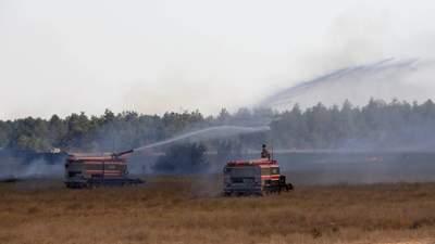 Во время военных учений на юге Украины загорелся полигон: фото, что известно