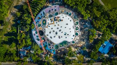 С дырявой крышей: в Будапеште строят современный концертный зал – фото