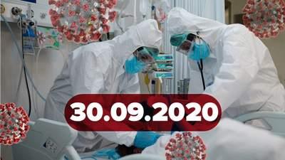 Новини про коронавірус 30 вересня: рекорд хворих в Україні, спалах у Верховній Раді