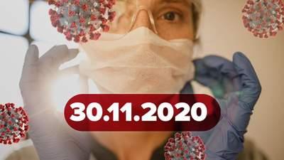 Новости о коронавирусе 30 ноября: 100% результаты вакцины Moderma, вопрос локдауна в Украине
