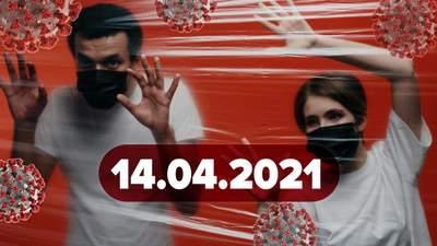 Новости о коронавирусе 14 апреля: в Киеве продлили локдаун, появился новый штамм с 34 мутациями