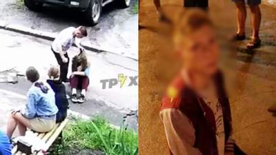 Бив ногами та зламав ніс: у Харкові хлопець відгамселив дівчину на очах в однолітків – відео 18+
