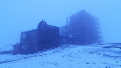 Посреди июня в Карпатах лежит снег, а температура ноль градусов