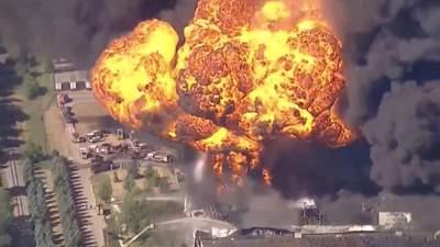 В США горело химическое предприятие, местных срочно эвакуировали: видео