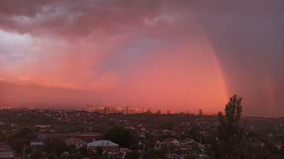 Сказочный закат солнца в Днепре вызвал восторг в сети: фантастические фото, видео