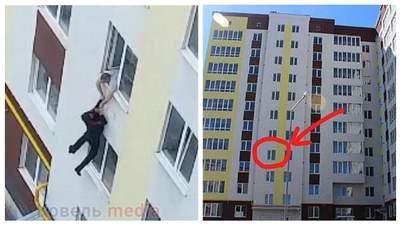 Вдав самогубця: на Волині злодій вистрибнув з 4 поверху і втік – відео