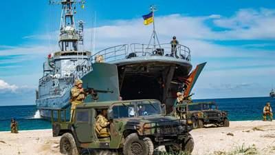 Украинская морская пехота десантировалась на Тендровскую косу