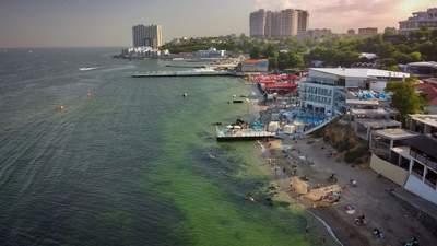 """В Одесі """"позеленіло"""" море: потрапило надто багато сміття – відео, фото"""