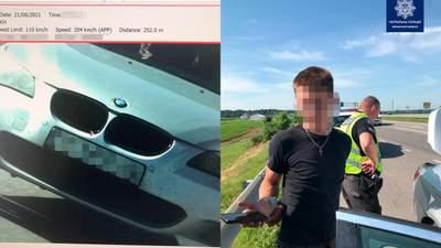 5 штрафов за поездку: в Умани водитель BMW под наркотиками на большой скорости убегал от полиции