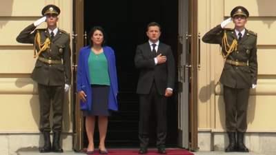 Зеленский встретился с президентом Грузии Зурабишвили