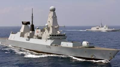 Російські військові відкрили вогонь по есмінцю Британії в Чорному морі