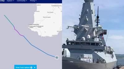 """Российские военные показали маршрут """"Дефендера"""" и рассказали детали инцидента"""