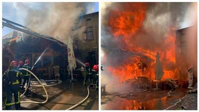 У центрі Тернополя спалахнув ресторан: місто огорнуло чорним димом