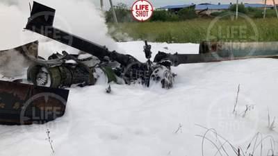 У Росії впав військовий вертоліт: є загиблі – фото, відео