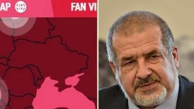 Росії не до вподоби Крим на мапі України на Олімпіаді: Чубаров нагадав Москві про Курили