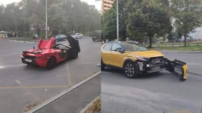Элитная авария в Киеве: столкнулись McLaren и Kia Stonic – видео