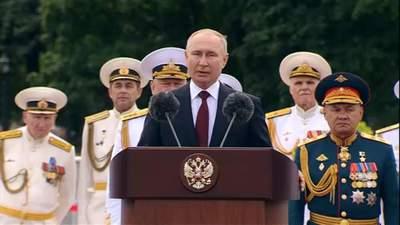 Росія може знищити будь-якого супротивника, – Путін пригрозив на параді ВМФ