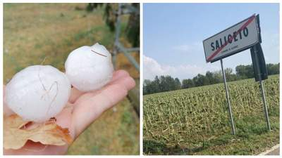 Больше куриного яйца: в Италии град побил сотни автомобилей – фото, видео