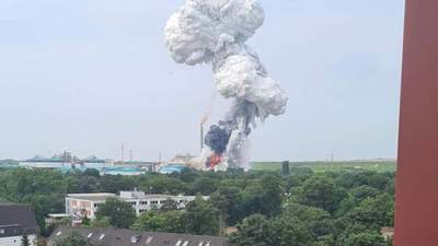 Мощный взрыв прогремел в Германии на заводе Bayer: фото, видео