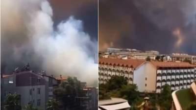 В Турции масштабные лесные пожары: огонь добрался до Анталии – фото, видео