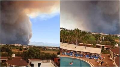 У повітрі запах диму, з неба падає попіл, –  українці розповіли про страшні пожежі в Анталії