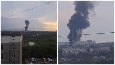 Авария в Ровном лишила света часть города: видео масштабного пожара