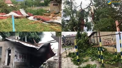 Зірваний дах, повалені дерева, перекинутий автомобіль: наслідки негоди на Львівщині – відео
