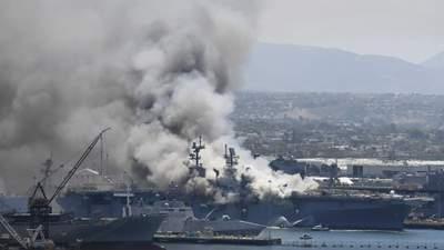 В США моряка обвинили в масштабном пожаре на корабле американских ВМС
