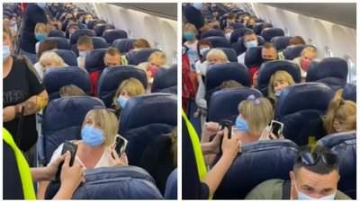В Харькове женщина устроила скандал в самолете, потому что не хотела надевать маску: видео