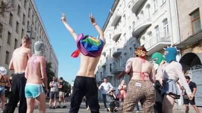 Несмотря на стычки: рейв-вечеринка представителей ЛГБТ состоялась под Офисом Президента – фото
