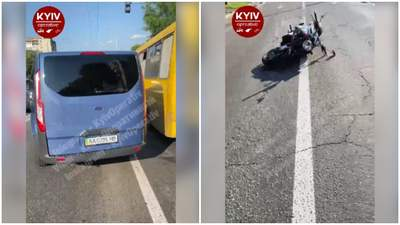 Гонялись за Чаусом: НАБУ во время погони за СБУ сбило мотоциклиста – видео