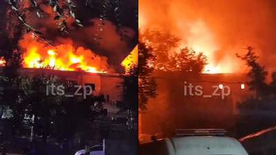 В Запорожье загорелся жилой дом, не исключают утечку газа: видео