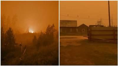 Сонце зникло посеред дня, з неба падав попіл: у Росії вирують масштабні лісові пожежі – відео