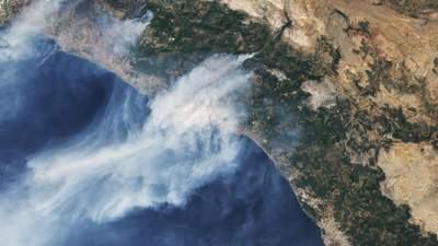 Турция пылает: NASA показало масштабы лесных пожаров c космоса – фото