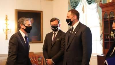 Говорили о сотрудничестве на фоне агрессии России: Кулеба и Ермак встретились с Блинкеном